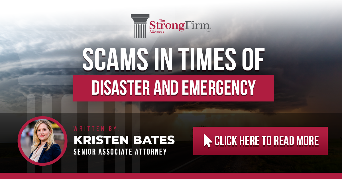 Scams in Times of Disaster and Emergency